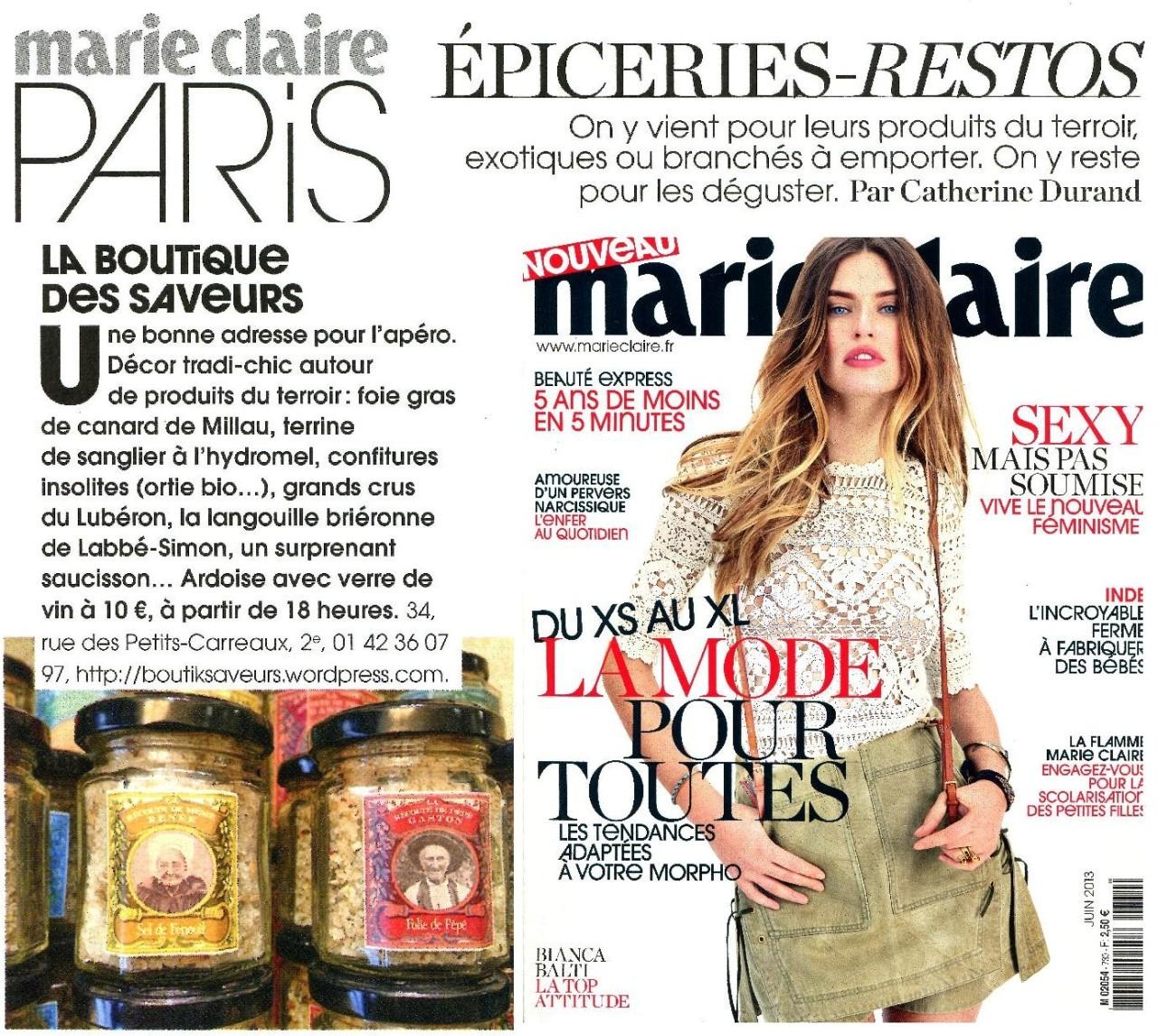 Boutique Des Saveurs - www.boutiksaveurs.com / Epiceries-Restos - Marie Claire