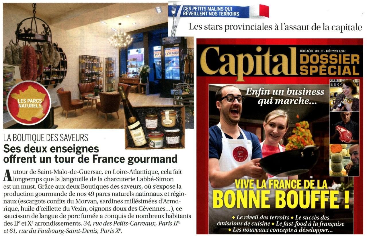 Boutique Des Saveurs - www.boutiksaveurs.com / Un Tour de France Gourmand - CAPITAL