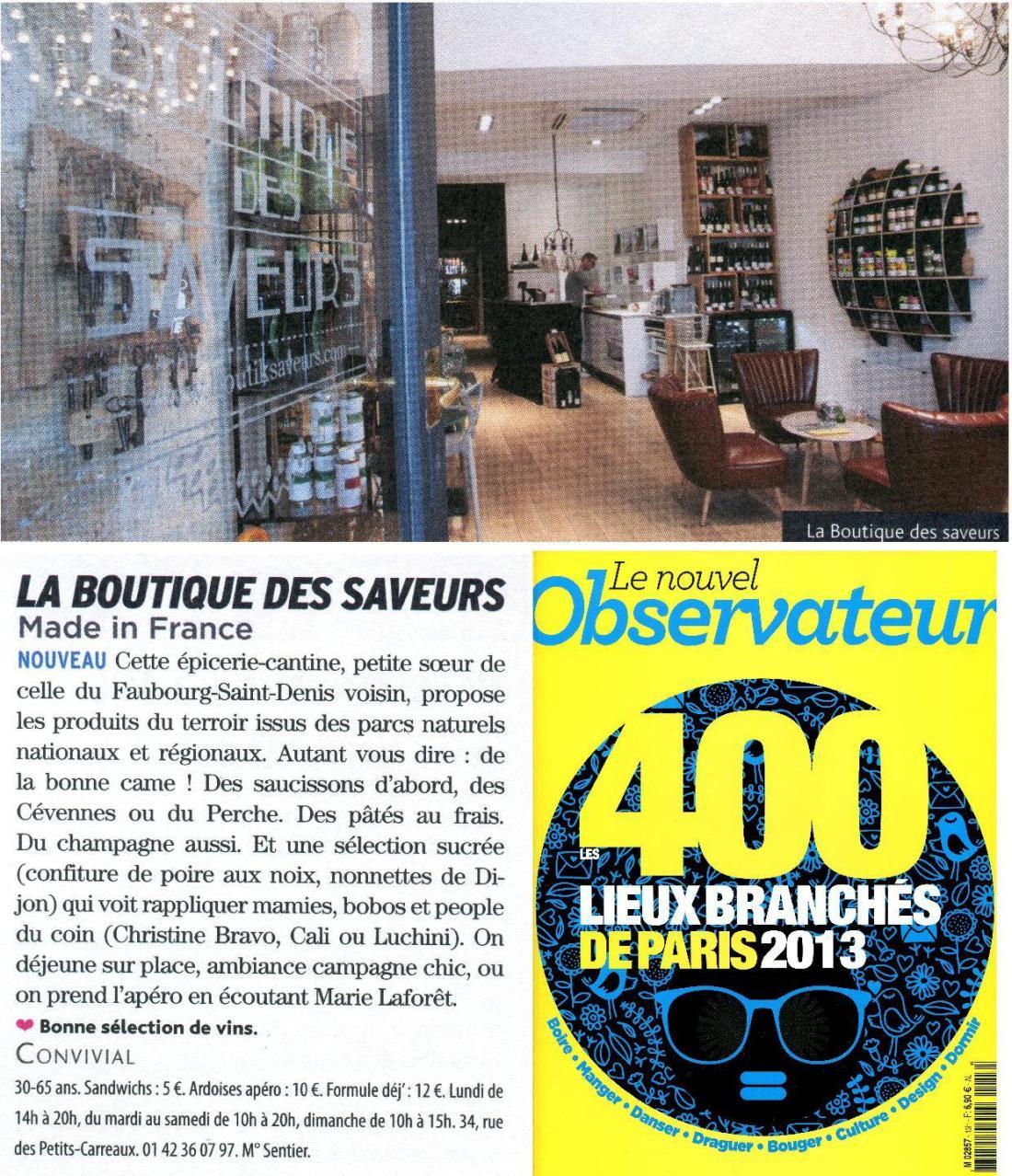 Boutique Des Saveurs - www.boutiksaveurs.com - MADE IN FRANCE / Les 400 Lieux Branchés de Paris - Le Nouvel Observateur