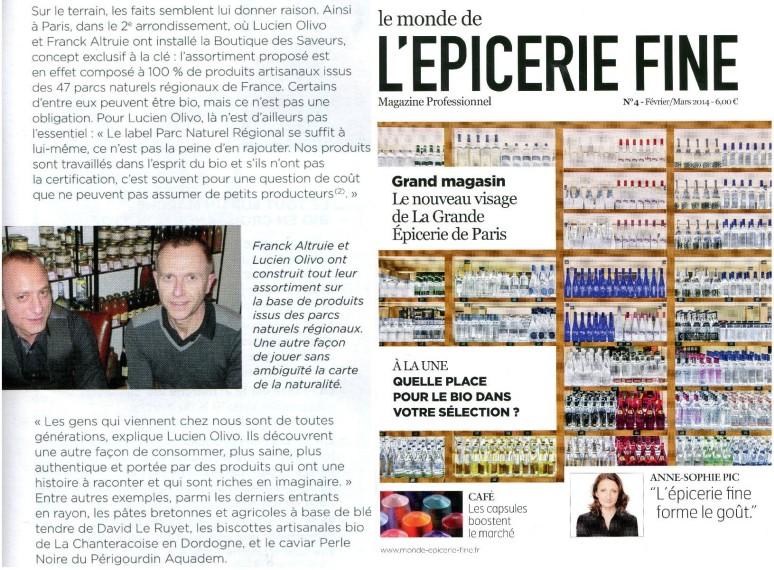 Boutique Des Saveurs - Epicerie Fine & Dégustations - Paris - www.boutiksaveurs.com / Le Monde de l'Epicerie Fine