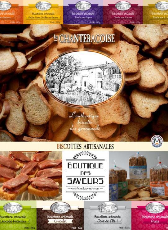 Boutique Des Saveurs - Epicerie Fine & Dégustations - Paris - www.boutiksaveurs.com - Biscottes La Chanteracoise