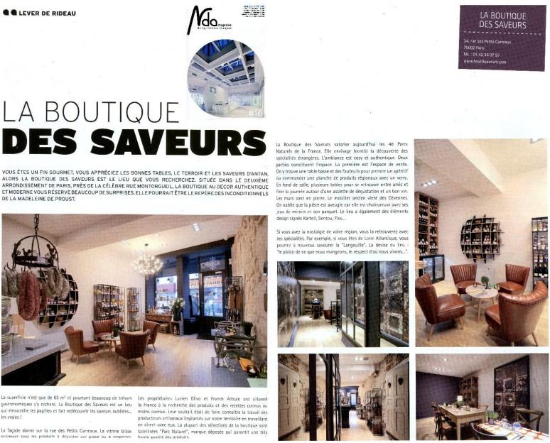 Boutique Des Saveurs - Epicerie Fine & Dégustations - Paris - www.boutiksaveurs.com / NDA Magazine
